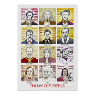 Italian Composers poster