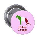 Italian Cougar 2 Inch Round Button