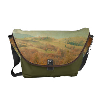 Italian Country Side Rolling Green Bag Tote Purse Courier Bags