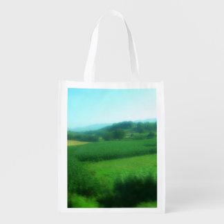 Italian Countryside Reusable Grocery Bags