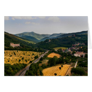 Italian Countryside  - Spoleto Italy Greeting Card
