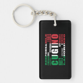 Italian Cousins : Qualities Keychain