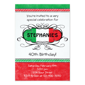 Italian Crest Custom Party Invitation