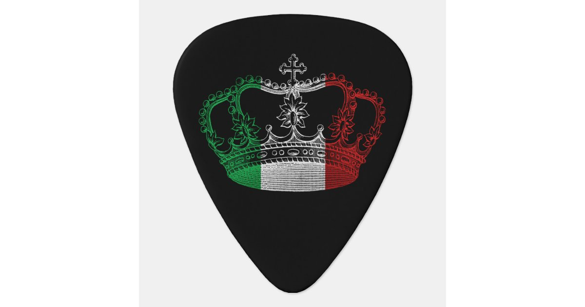 Italian Crown Flag Personalized Guitar Pick Zazzle