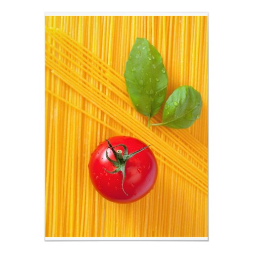 Italian Cuisine 5x7 Paper Invitation Card