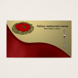 Italian cuisine business card