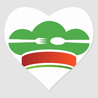 Italian cuisine heart sticker