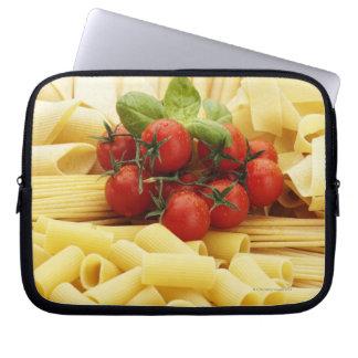 Italian cuisine. Pasta and tomatoes. Computer Sleeve