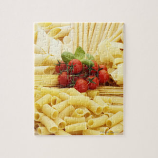 Italian cuisine. Pasta and tomatoes. Jigsaw Puzzle