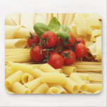 Italian cuisine. Pasta and tomatoes. Mouse Pad