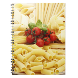 Italian cuisine. Pasta and tomatoes. Spiral Notebook