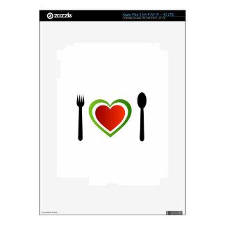 Italian cuisine decal for iPad 3