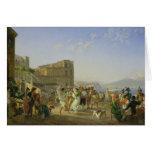 Italian Dancing, Naples, 1836 Greeting Card