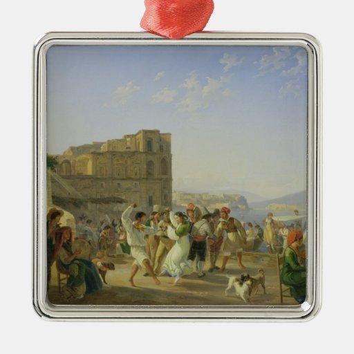 Italian Dancing, Naples, 1836 Christmas Ornament