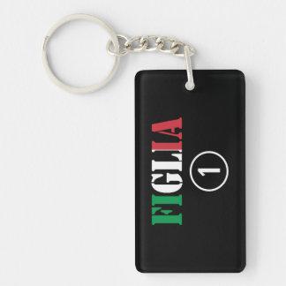 Italian Daughters : Figlia Numero Uno Keychain