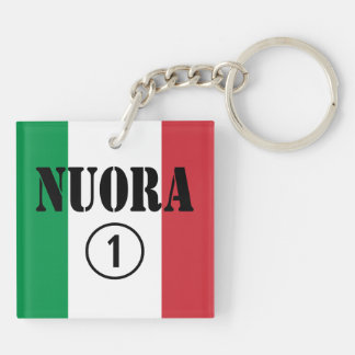 Italian Daughters in Law : Nuora Numero Uno Double-Sided Square Acrylic Keychain