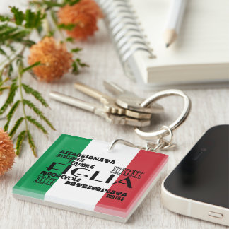 Italian Daughters : Qualities Keychain