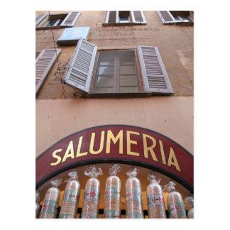 Italian Deli ~ Salumeria Postcard