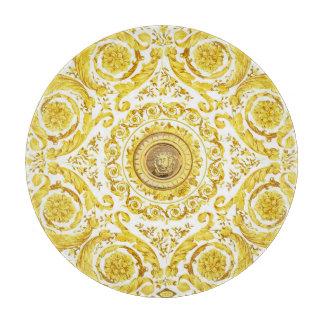 Italian design Medusa, roccoco baroque, white gold Cutting Boards