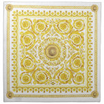 Italian design Medusa, roccoco baroque, white gold Cloth Napkin