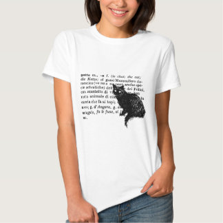 Italian Dictionary cat T Shirt
