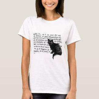 Italian Dictionary cat T-Shirt