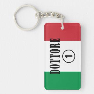 Italian Doctors : Dottore Numero Uno Single-Sided Rectangular Acrylic Keychain