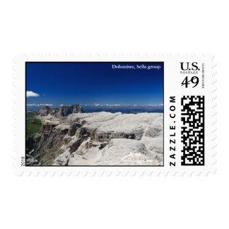 Italian Dolomites - Sella Group Postage Stamp