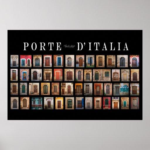Italian doors porte d 39 italia poster zazzle for Porte italia