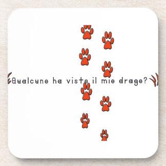 Italian-Dragon Beverage Coaster