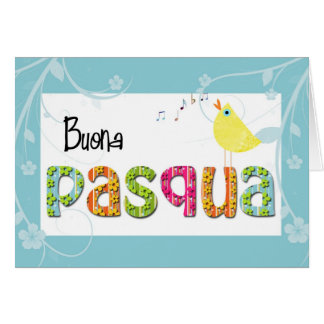 Italian easter greeting card