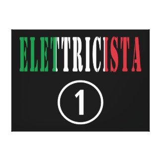 Italian Electricians : Elettricista Numero Uno Gallery Wrap Canvas
