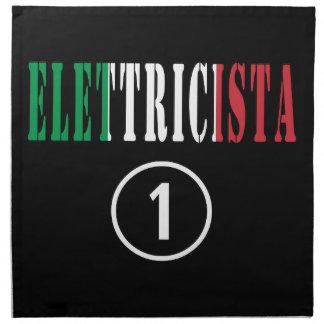 Italian Electricians : Elettricista Numero Uno Printed Napkins