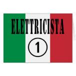 Italian Electricians : Elettricista Numero Uno Greeting Cards