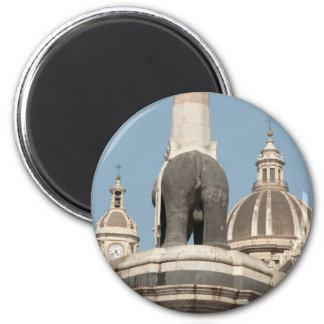 Italian Elephant Butt 2 Inch Round Magnet