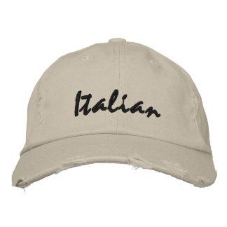 Italian Embroidered Baseball Hat