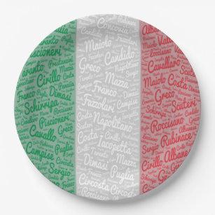Italian Family Reunion Paper Plates  sc 1 st  Zazzle & Italian Flag Plates | Zazzle