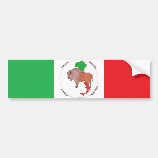 Italian Festival Standing Buffalo Bumper Sticker