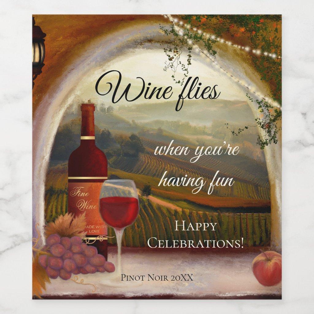 Italian Fine Art Tuscan Wine Label