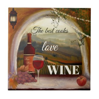Italian Fine Art Wine Ceramic Kitchen Tile