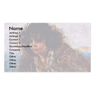 Italian Fishermen Child By Romako Anton Double-Sided Standard Business Cards (Pack Of 100)
