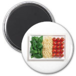 Italian Flag 2 Inch Round Magnet