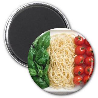 Italian Flag 2 Inch Round Magnet
