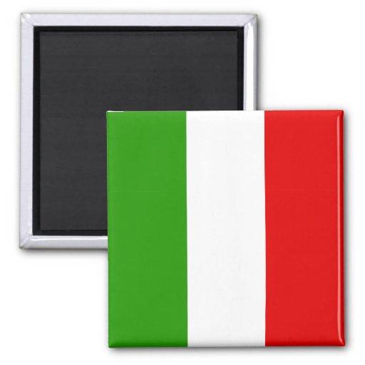 Italian Flag 2 Inch Square Magnet