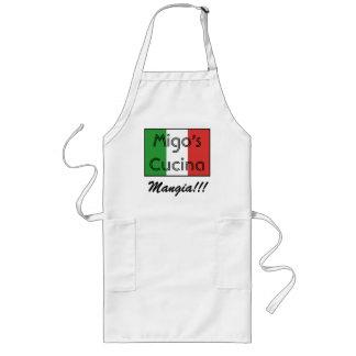 italian flag 3, Migo's Cucina, Mangia!!! Long Apron