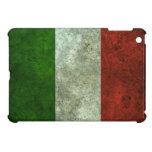 Italian Flag Aged Steel Effect iPad Mini Cases