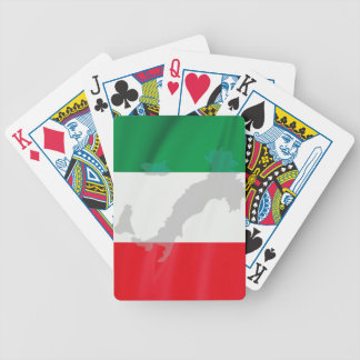 italian flag and Italy Bicycle Playing Cards