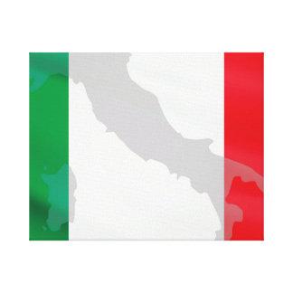italian flag and Italy Canvas Print