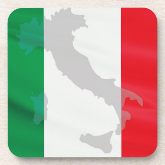 italian flag and Italy Coaster