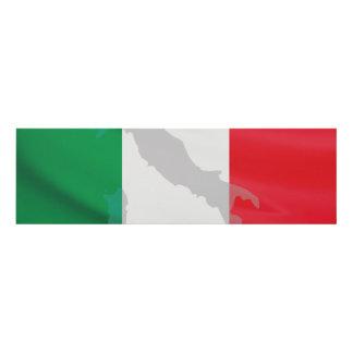 italian flag and Italy Panel Wall Art